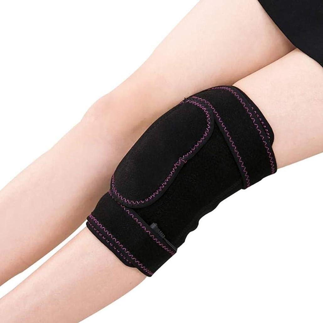 申請者グレー残酷なレッグマッサージャー、電気加熱式膝パッド、ホットコンプレッションセラピーツール、脚の筋肉の弛緩に適し、血液循環の促進、温度調節可能