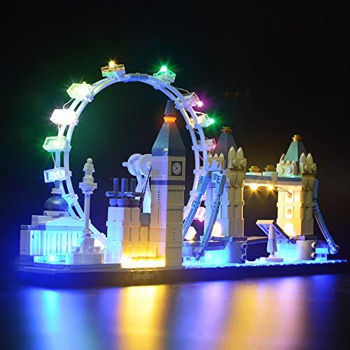 BRIKSMAX Led Beleuchtungsset für Architecture London Skyline Sammlungsset, Kompatibel Mit Lego 21034 Bausteinen Modell - Ohne Lego Set