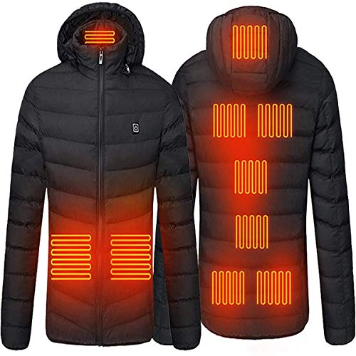 AIYLY Men's Heating Jacket, Battery Heating Jacket, Body Warmer, Suitable for Outdoor Bicycles and Motorcycles,L