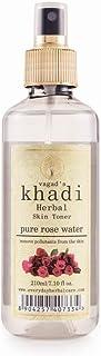 Vagad's Khadi Pure Rose Water with Spray Pump, 210 ml | Super Refreshing & Hydrating