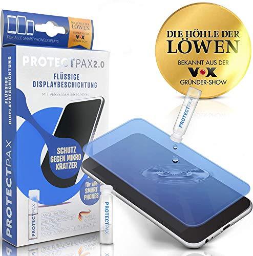 ProtectPax TESTSIEGER: SEHR GUT [1x] Flüssiger Bildschirmschutz aus der Fernsehshow Die Höhle Der Löwen - innovatives Panzerglas für alle Handys und Marken - [2020 verbesserte Formel]
