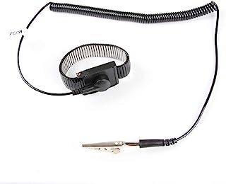 Anti Static ESD Adjustable Metal Wrist Strap - FEITA Anti-Static Wristband with 8 Feet Coiled Cord - Metal Bracelet Person...