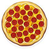 TIZORAX Pizza con rodajas de Pepperoni Alfombra de área Peluda Alfombra para Sala de Estar Dormitorios Niños Guardería Hogar Comedor Alfombras Alfombra 5.2 pies Redondo