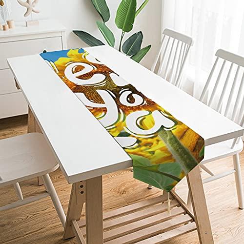"""by Unbranded Camino de mesa de 200,7 x 33 cm, decoración de mesa para el hogar, texto en inglés """"Yes You Can Girflower Citas"""", decoración de mesa para boda, cocina, comedor, fiesta festiva"""