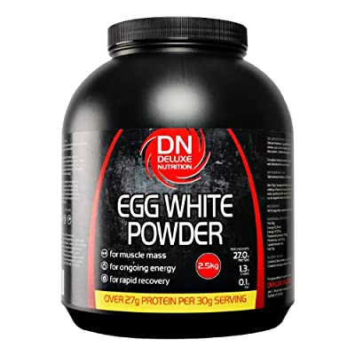 Deluxe Nutrition 2.5Kg Egg White Powder Unflavoured Tub by Deluxe Nutrition