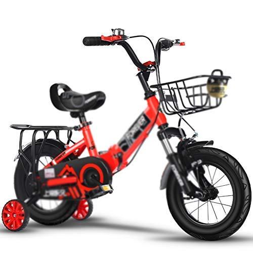"""YSA Kinderfahrrad 14\""""& 16\"""" Kinderfahrrad für 3-8 Jahre Jungen, Jungen Fahrrad mit Stützrädern Achterbahnbremse Kinder Radfahren"""