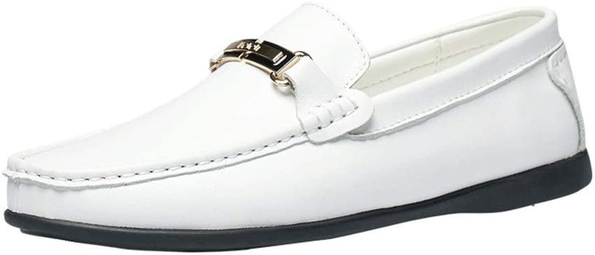 HUN Men's Fashion Oxford Casual Classic British Style Breathable Grid Pattern Formal Shoes (Color : White, Size : 46 EU)