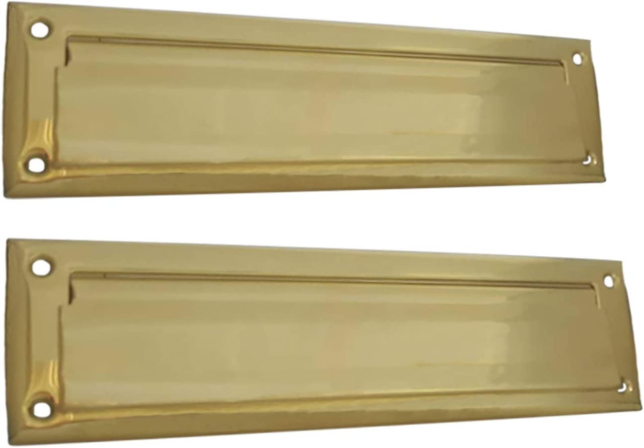 QCAA Solid Brass Mail Slot Rapid rise with New product Plate Back Interior