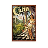 ERTEF Kuba Retro Poster 4 Leinwand-Kunst-Poster und