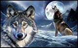 Eleanorsea Doormats Heulender Wolf Fußmatten Outdoor/innen Fußmatte 59,9cm (L) X 39,9cm (W), 3/40,6cm Stärke