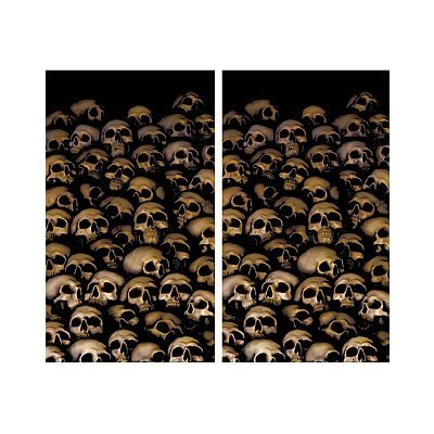 WOWindow Posters Catacombs Skulls Halloween Window Decoration Two 34.5x60 Backlit Posters by WOWindow Posters