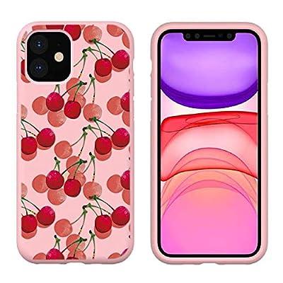 Pnakqil Funda para Samsung Galaxy Note 10 Lite / A81 Silicona con Dibujos Carcasa Ultrafina y Ligero Diseño Gel TPU Suave Piel Case Antigolpes Bumper Protectora Back Cover, Cereza