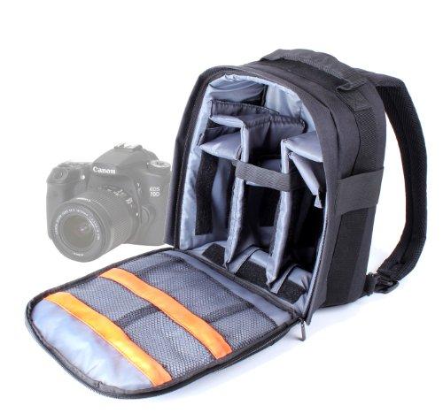 DURAGADGET Mochila Resistente con Compartimentos para Cámara Canon EOS 700D /70D / 7D Resistente Al Agua + Funda Impermeable Fotografiar Bajo La Lluvia!