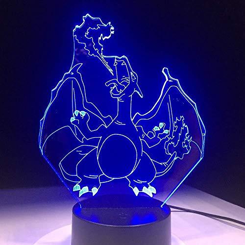 Kerstcadeaus voor bruidegom, kerstcadeau, nachtlampje, 7 kleuren, kleurverandering, nachtlampje, 3D-lamp, thuisdecoratie, cadeau met afstandsbediening