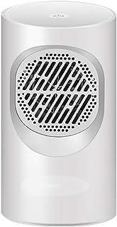 Calefactor CeráMico BañO,Calefactor Ceramico Bajo Consumo,Calentador de Espacio Personal Con Termostato Ajustable 400 W Calentador Ptc Oscilante,Funcionamiento Silencioso,Dormitorio,White