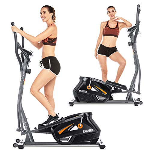 ANCHEER Eliptical Exercise Machine, Magnetic Elliptical...