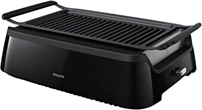 Philips Smoke-less Indoor BBQ Grill, Avance Collection, HD6371/94 (Renewed)