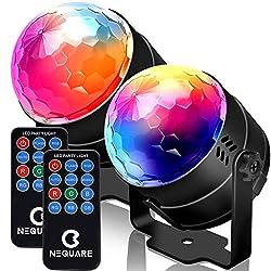 Image of NEQUARE Party Lights Sound...: Bestviewsreviews