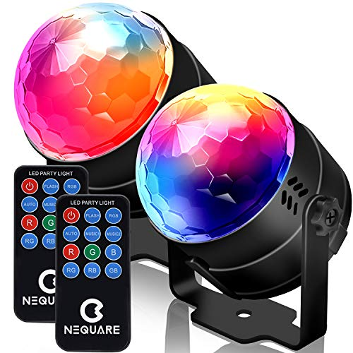 NEQUARE Party Lights Sound Activated Disco Lights Strobe Light 7