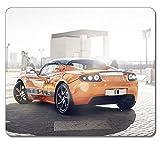 Alfombrilla de ratón para videojuegos Tesla Roadster de alta calidad para el coche