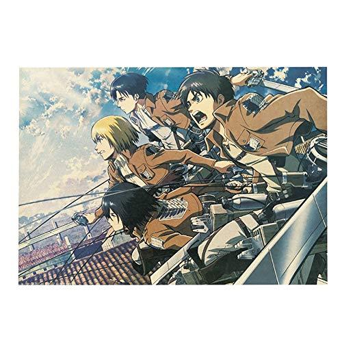 """Poster da parete con scritta """"Attack on Titan"""", motivo """"Anime"""", per decorazione da parete, 30 x 42 cm, stile 04"""