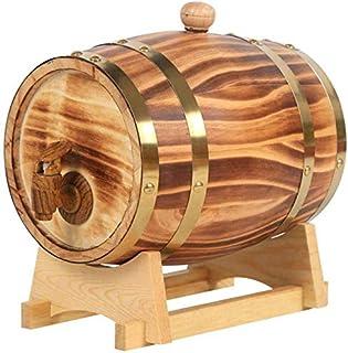 LLYYC パーソナライズされたウイスキー樽、10Lアメリカンホワイト熟成ウイスキー用オーク樽 スタンド付き ワイン樽ウイスキー/ビール/ワイン/バーボン/テキーラ/ラム/ホットソ,10L