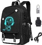 Laptop Backpack 15.6 inch, 20L Oxford Laptop Bag School Backpack Travel USB Charging Daypack