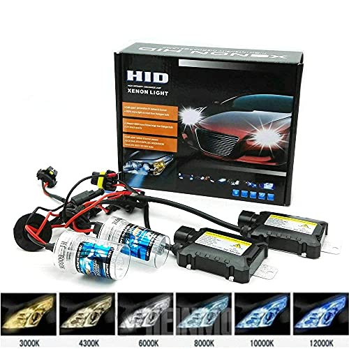 NETLITE H7 55W 6000K 12V Xenon HID Fog LED Bulbs lamp Conversion Kit Set for all automobile cars and bikes (high intensity discharge) (pack of 2)