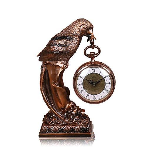 Reloj de Chimenea Reloj de Manto Reloj de Escritorio silencioso Reloj con números Romanos Reloj nórdico Retro Regalo con Pilas, Adecuado para Decorar Sala de Estar, Chimenea, Oficina, escri