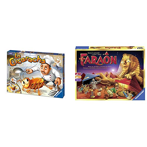 Ravensburger 22228 La Cucaracha, Gioco Da Tavolo, Per 2-4 Giocatori, EtÀ Consigliata 6+ & 26718 Faraon, Gioco Da Tavolo, Per 1-5 Giocatori, EtÀ Consigliata 7+