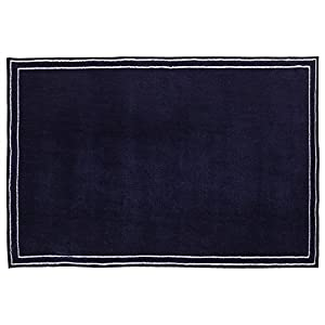 Little Love by NoJo Plush Nursery Rug, Navy with Border, 3'9″ x 5'9″
