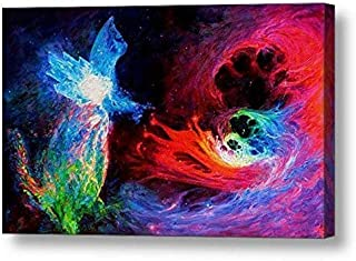 "Space Cat Angel 2-18.75""H x 30""W Canvas Print"