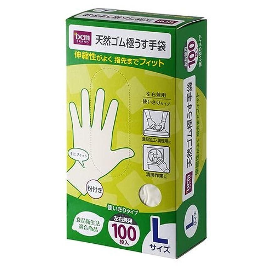 観点差し引く横天然ゴム 極うす 手袋 HI06T81 L 100枚入 L