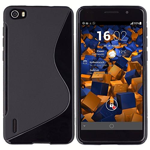 mumbi Hülle kompatibel mit Honor 6 Handy Case Handyhülle, schwarz