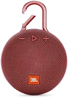 JBL Clip 3 Waterproof Portable Bluetooth Speaker - Red (JBLCLIP3REDAM)