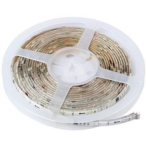 Yorbay 5M LED RGB Strip RGB Lauflicht LED 1003 IC Band Leiste Streifen Lichterkette Lichtschlauch +Controller/Fernbedienung Trafo/Netzteil Weihnachtsdeko Komplettset mehrfarig