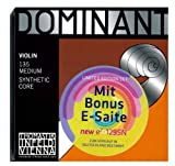 Thomastik Dominant 135 MEDIUM - 4/4 Violin Saitensatz ! 5-teilig ! Limited Edition Set mit Extra e-Saite der neuen Generation e² 129SN aus...