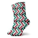 yting Calcetines casuales Calcetines de tejido de bandera de Kuwait Calcetines cortos de compresión Vestido corto para mujeres Hombres
