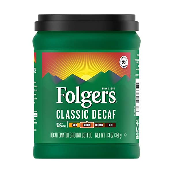 Folgers Decaf Medium Roast, 11.3 Ounces