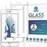 Pevita Protector de Pantalla Compatible con iPhone 6 Plus Blanco/iPhone 6S Plus Blanco. [2 Packs]Sin Burbujas, Fácil Instalación. Cristal Templado para iPhone 6 Plus Blanco/iPhone 6S Plus Blanco