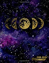 2019-2020 Planner: Pretty Golden Phases of the Moon Daily, Weekly and Monthly Planner 2019-2020. Cute Galaxy 2 Year Organizer, Yearly Schedule and ... Vision Boards, … . (Nifty Personal Planners)