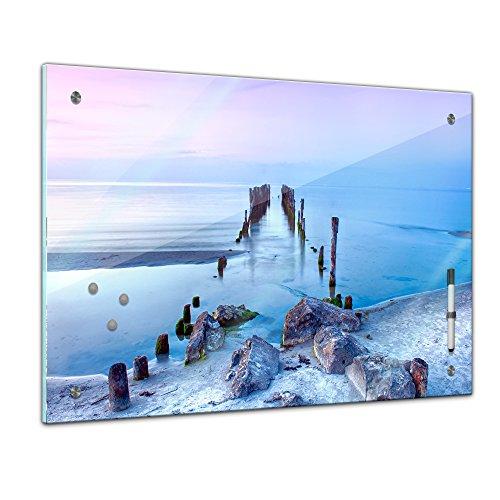 Bilderdepot24 Memoboard 60 x 40 cm, Landschaft - Alter Steg