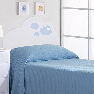 Cabecero infantil. Modelo Nubes El modelo Nubes es un cabecero infantil para camas de 90, dando la forma de una nube, creando un ambiente diferente, para su dormitorio infantil. Fabricado en MDF lacado Medidas: 102cm alto x 100cm ancho Producto de gr...