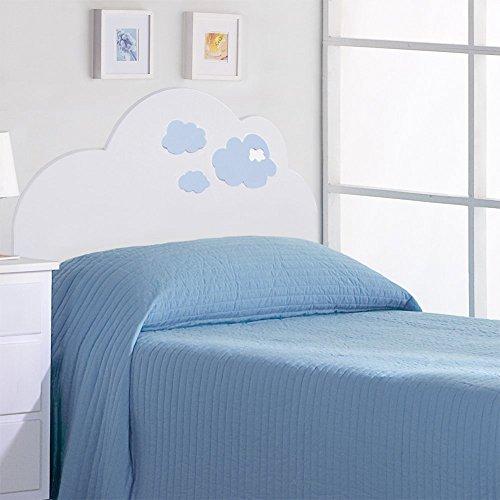 Juvenilesoutlet Cabecero Infantil. Modelo Nubes Azul 90