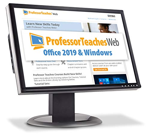 Professor Teaches Web - Office 2019 & Windows - Annual Subscription [PC Online code]