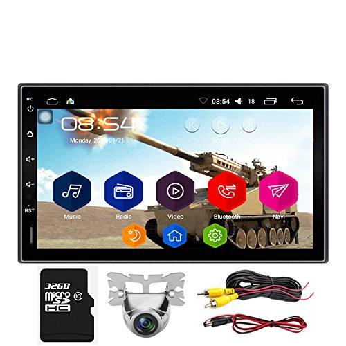 Navigazione GPS stereo per auto Android KX09CA32 1 GB di RAM 16 GB ROM Scheda SD 32G Supporto per quad core Uscita AV Autoradio AM/FM/RDS 2 Din