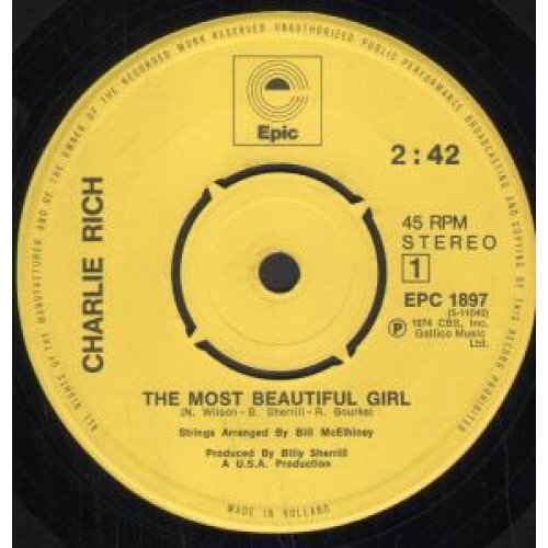 Charlie Rich - The Most Beautiful Girl - (Generic Sleeve) - Epic