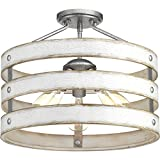 Progress Lighting P350049-141 Gulliver Semi-Flush/Convertible, Galvanized Finish