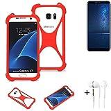 K-S-Trade® Mobile Phone Bumper + Earphones For Cubot X18