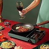 Cocina de inducción portátil,Estufa de Placa Inducción 3500W,Control Independiente 10 Niveles de Temperatura Control Táctil con asas en ambos lados Necesario Suministros de cocina